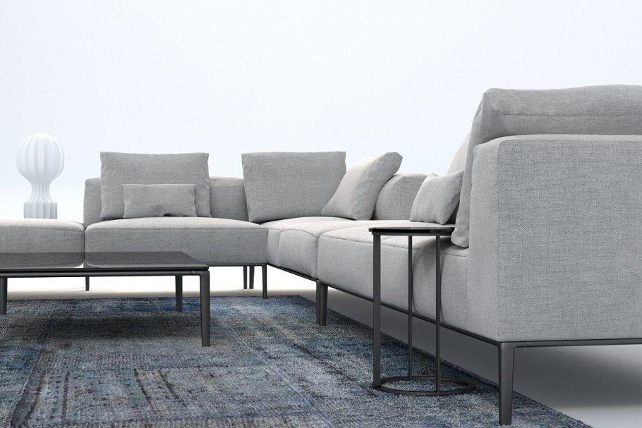 B Italia Sofa Michel Effe Model Furniture Models Creative Market