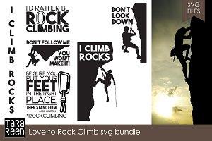 Love to Rock Climb SVG Bundle