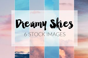 Dreamy Skies ~ 6 Stock Photos