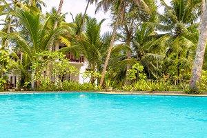 Swimming pool in tropic