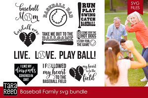 Baseball Family SVG Bundle