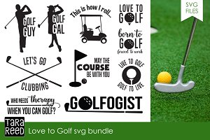 Love to Golf SVG Bundle