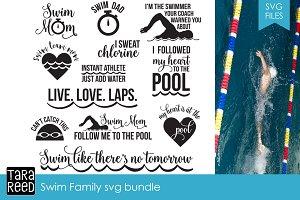Swim Family SVG Bundle