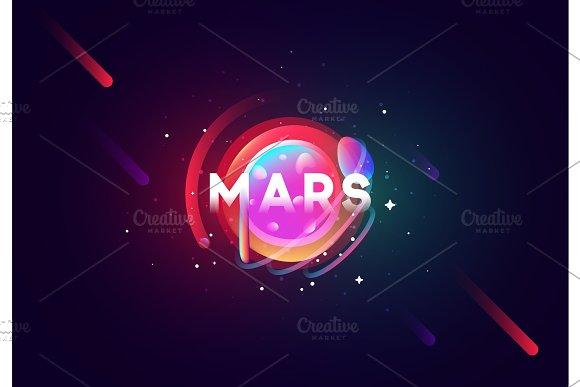 Mars Planet Bright Abstract Illustration