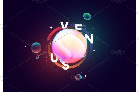 Venus Planet Bright Abstract Illustration