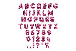 Paper cut letter. Fluid typeface, texture style papercut.
