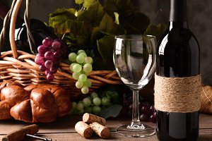 Wine Still Life in Square Format