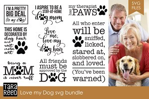 Love my Dog SVG Bundle