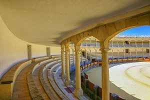 Bullfighting arena in Spain