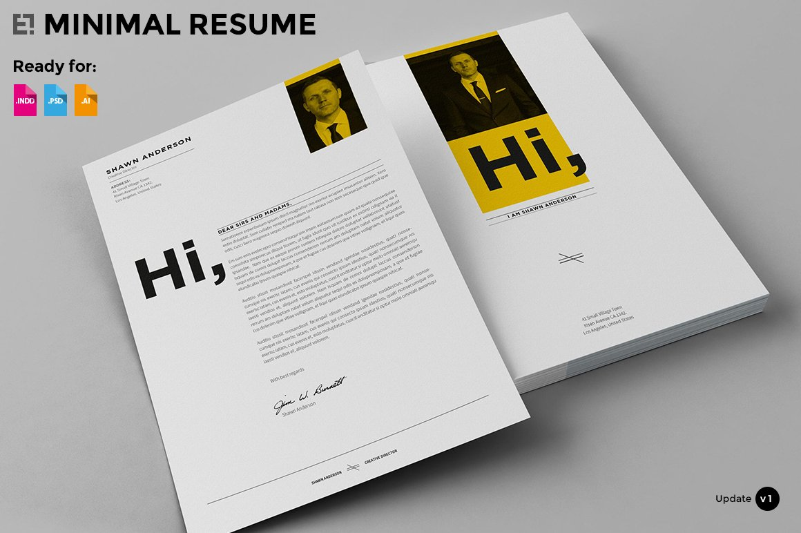 7 pages - minimal resume cv ~ resume templates ~ creative market