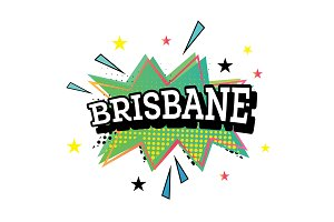 Brisbane Comic Text in Pop Art Style