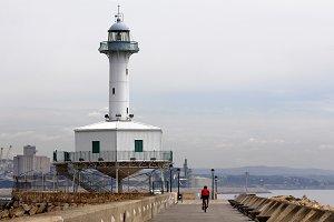 Lighthouse and bike