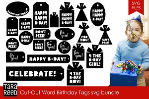 Birthday Tags SVG Bundle