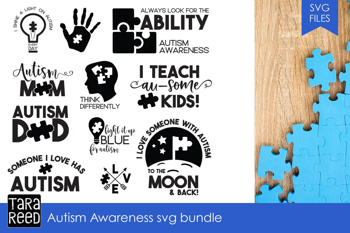ae2f72cd5ca Autism Awareness SVG Bundle ~ Illustrations ~ Creative Market