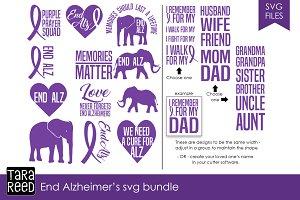 End Alzheimer's SVG Bundle