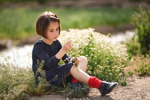 Little girl enjoying Nature