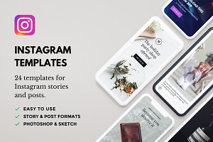 Lush: 24 Instagram Template Bundle