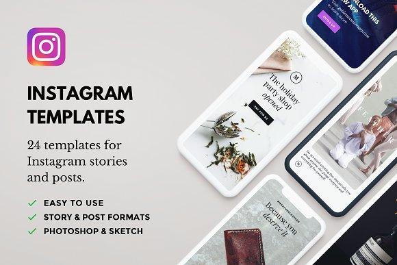 Lush: 24 Instagram Templates