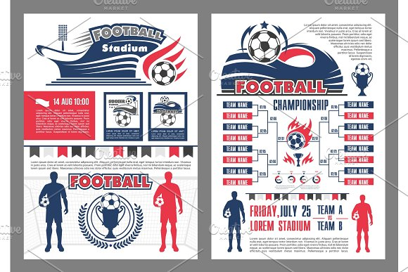 Football Stadium And Soccer Match Schedule Poster