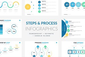 Steps Process Infographics | PPT KEY