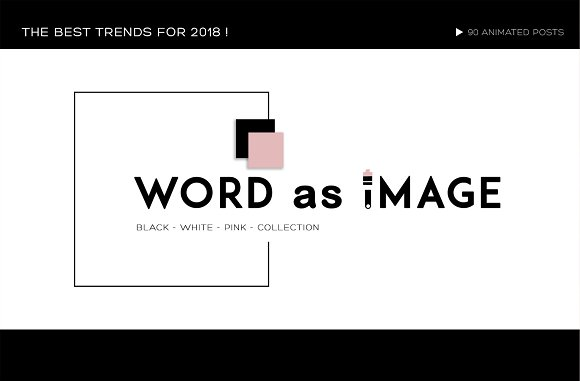 WORD AS IMAGE ANIMATED POSTS