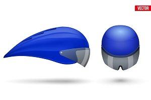 Set of Time trial bicycle helmets
