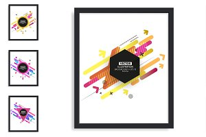 Modern Abstract Hipster Flyer Set