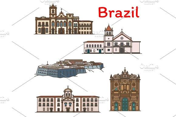 Brazilian Travel Landmark Icon Of South America
