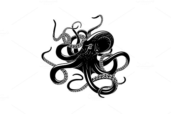 Octopus Icon For Sea Monster Tattoo Design