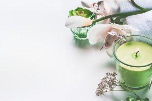 Green spa or wellness background