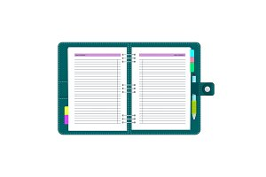 daily schedule notebook