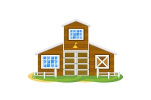 farm house illustration