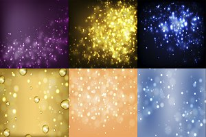 Set of 6 abstract backgrounds