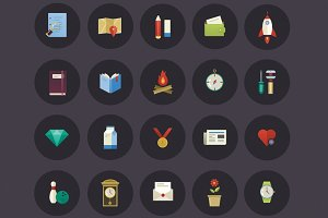 Colorful Lifestyle Icons Set