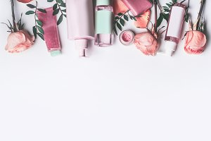 Cosmetics with Rose essential oil