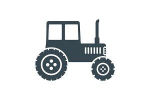tractor black icon