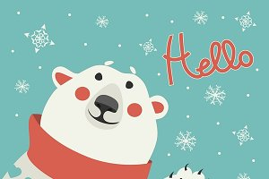 Polar bear says hello