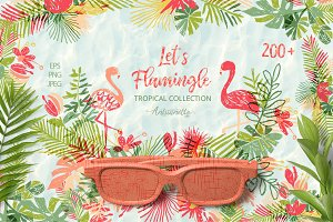 Let's Flamingle tropical collection