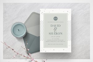 Dot Minimal Wedding Invitation