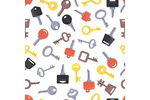 Seamless pattern with different keys