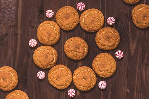 Oat cookies and candies