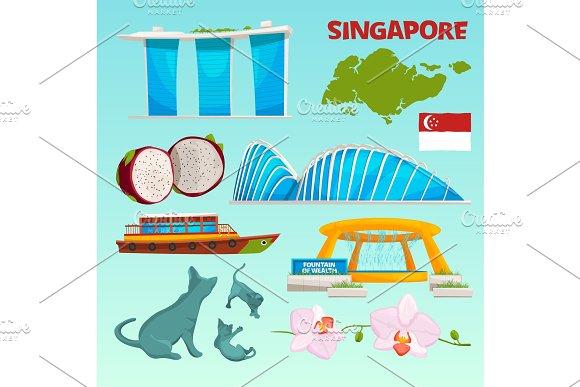 Set Different Landmarks Of Singapore