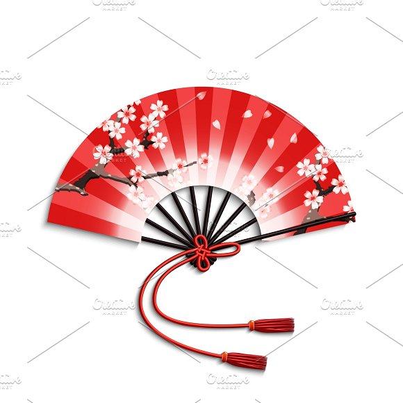 Realistic Japanese Folding Fan