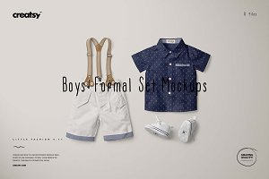 Boys Formal Set Mockups