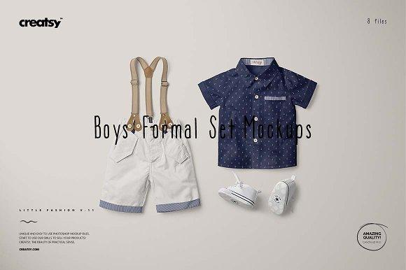 Boys Formal Set Mockups