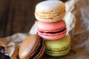 Stack of French macarons
