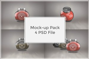 Spice Jar Mock-up Pack