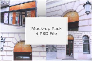 Shop Sign Mock-up Pack#3