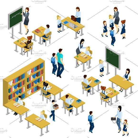 School Isometric Set