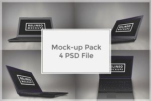 Laptop Mock-up Pack#1